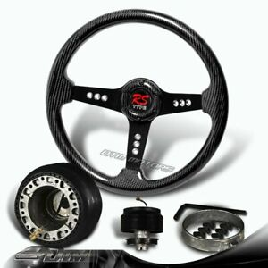 350mm Real Full Carbon Fiber 6 hole Racing Steering Wheel hub For Del Sol Civic