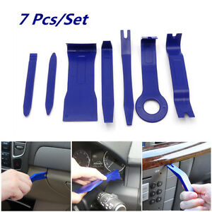 7pcs Car Audio Stereo Gps Dashboard Door Installation Removal Tool Kit Blue