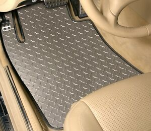 4 piece Set Diamond Plate Vinyl Floor Mats Custom Fit Plymouth