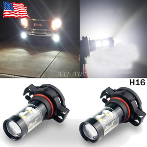 Auxito 2x 50w Cree White Led 5202 H16 Bulb Fog Light Driving Daytime Running Drl