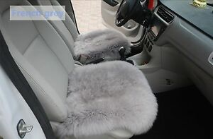 Sheepskin Car Seat Covers Genuine Long Wool Chair Cushion 18 18 French Grey X1