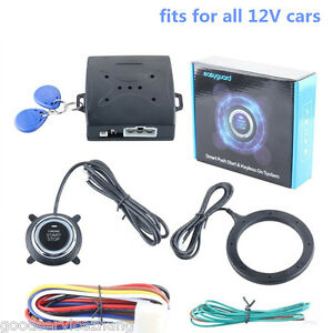 Car Engine Push Start Button Rfid Engine Lock Ignition Starter Keyless System