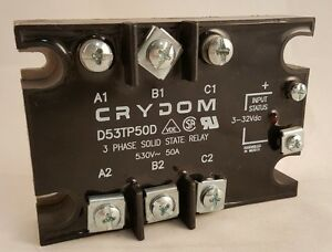 Crydom D53tp50d Solid State Relay 3 Phase input vdc
