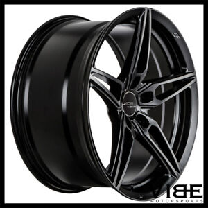19 Ace Aff01 Flow Form Black Concave Wheels Rims Fits Ford Mustang Gt