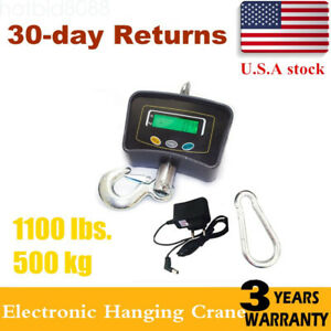 500 Kg 1100 Lbs Electronic Digital Portable Hook Hanging Crane Scale Lcd Us Sale