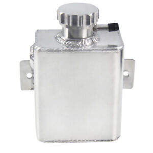 1235ml Fabricated Aluminum Coolant Expansion Catch Can Tank Billet Cap