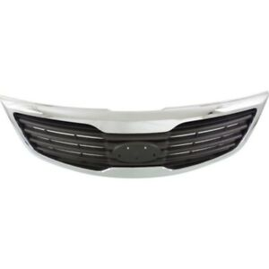 New Front Grille Chrome Shell Fits 2013 Kia Sportage Ki1200164