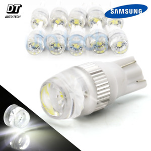 10x High Power 6000k White T10 921 Interior License Plate Smd Led Light Bulbs