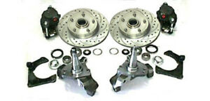 Mustang Ii Big Disc Brake Kit 2 Drop Spindles 11 Rotors Street Rod Ford