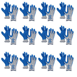 Showa Atlas 300 Latex Dipped Pair Of Gloves Medium 12 Pack