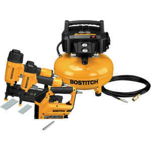 Bostitch 3 piece Nailer And Compressor Combo Kit Btfp3kit New