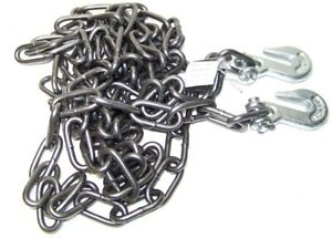 1 4 X 20ft H D Tow Chain With Hooks Towing Pulling Secure Truck Cargo Chains