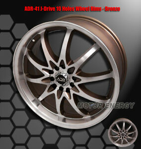 18 X7 5 42mm Adr J Drive 5 Lug Wheel Rim Bronze For 240sx Altima Mr2 Maxima