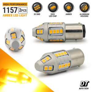 2x 50w 1157 Led Amber Yellow Turn Signal Parking Drl High Power Light Bulbs