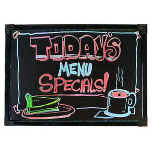 Led Write on Menu Board Drinks Bars Restaurants Advertising