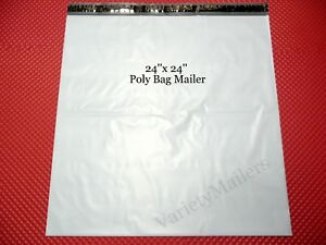 30 Large Poly Bag Mailers 24x24 Self sealing Postal Shipping Envelopes