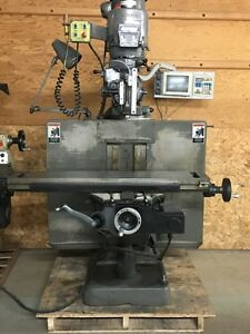 Bridgeport Ez Trak Dx Cnc Vertical Mill With 3x Dro