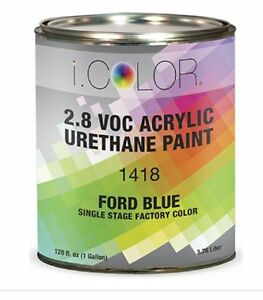 Ford Blue Gallon Kit Single Stage Acrylic Urethane Auto Paint Kit