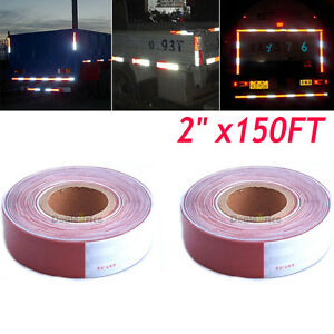 2pcs Dot c2 Reflective Safety Red White Conspicuity Tape Truck High Quality