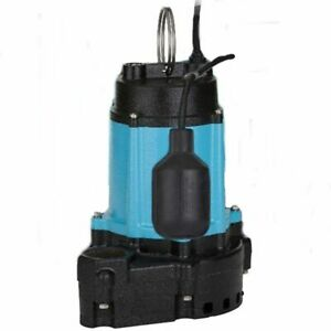Little Giant 10ec cia rf 1 2 Hp Cast Iron Submersible Sump Pump W Piggybac