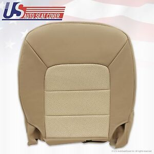 2003 2004 2005 2006 Ford Expedition Driver Bottom Leather Seat Cover Gray Tan