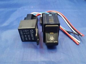 Fits Jeep Tj Wrangler Zombie Rocker Switch And 40 Amp Relay