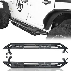 Us Armor Textured Black Side Step Nerf Bar For 07 18 Jeep Wrangler