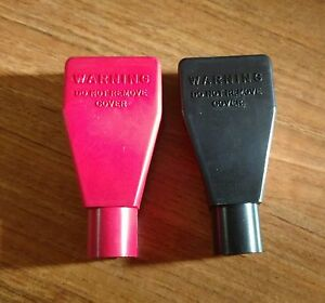 Pair 2 Battery Terminal Covers 1 Red And 1 Black 2 Gauge Awg New