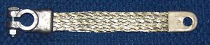 19 Inch 2 Gauge Braided Copper Ground Battery Cable Strap Vintage Steel New