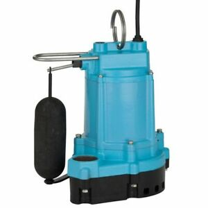 Little Giant 6ec cia sfs 1 3 Hp Cast Iron Submersible Sump Pump W Vertical