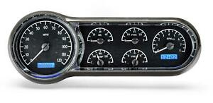 Dakota Digital 1953 54 Chevy Car Analog Gauges Black Alloy Blue Vhx 53c K B