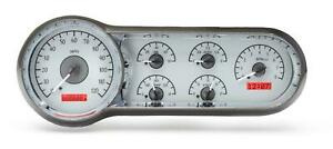 Dakota Digital 1953 54 Chevy Car Analog Gauges Silver Alloy Red Vhx 53c S R