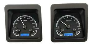 Dakota Digital 1969 Chevy Camaro Analog Gauges Black Alloy Blue Vhx 69c Cam K B
