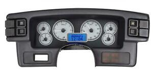 Dakota Digital 87 89 Ford Mustang Analog Gauges Silver Blue Vhx 87f Mus S B