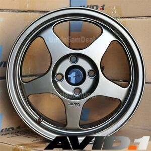 15 15x6 5 4x100 Et35 Avid 1 Av 08 Matte Bronze 5 Spokes Tuner Wheels Set Of 4
