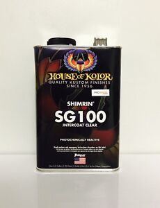 House Of Kolor Sg100g Intercoat Clear And Performance Intercoats gallon Sg100g