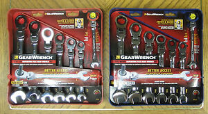 Gearwrench 14 Pc Sae Metric Ratcheting Combination Flex Head Wrench Set 7 1 2