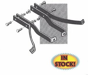 1955 59 Chevy Gmc Stepside Pickup Rear Bumper Bracket Set 55 17787
