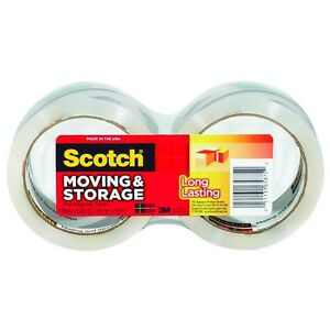 Scotch Moving Storage Packaging Tape 2 Ea pack Of 6