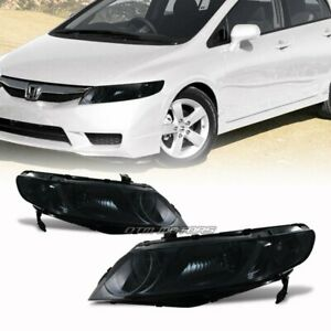 Jdm Smoke Housing Smoke Lens Headlight Lamps For 2006 2009 Honda Civic 4 door