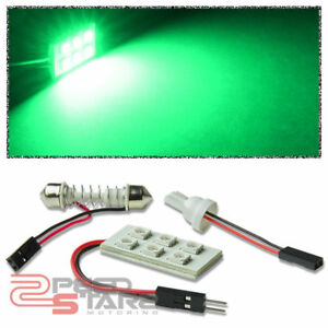 T10 5050 194 168 w5w 6 smd 12v Bright Green Led Interior Dome Wedge Lamps bulb