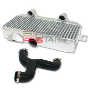 For Wrx Sti Ej257 Full Aluminum Bar plate Turbo Top Mount Intercooler y pipe Kit
