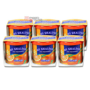 X6 My Shaldan Orange Scent Car office home Japan Refresh Air Freshener 80g Can