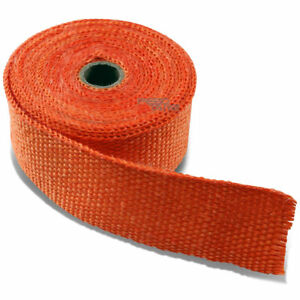 7 5m 25 Feet 2 W Car Bike Exhaust Manifold Header Down Pipe Orange Heat Wrap