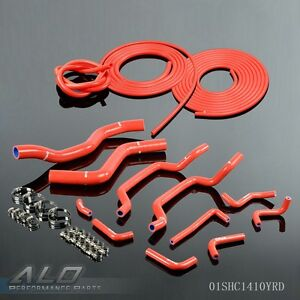 Silicone Radiator Hose For Mitsubishi Eclipse Dsm 4g63t 2g 95 99 Vacuum Kit