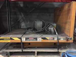 Bishamon Tilt Lift Table 4 000 Lb Capacity Hydraulic Foot Controls