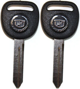 2 New Replacement Key Blanks With Cadillac Logo B102 Uncut Cadillac Key 15033286