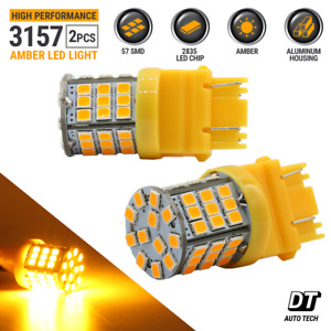2x 40w 3157 Led Amber Yellow Turn Signal Parking Drl Side Marker Light Bulbs