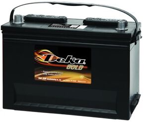Deka Genuine New 650mf 12 volt Gold Battery 740amp Cranking Power group 50