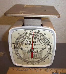 Vintage 1965 Pelouze Postal Scale Model Z 5 Up To 5 Pounds Great Collectible